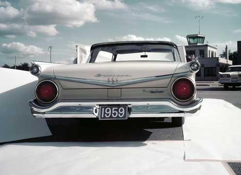 Back of Ford Galaxie Club Victoria 1959