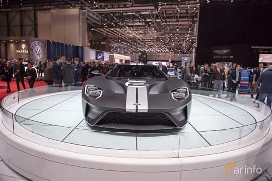 Front  of Ford GT 3.5 V6 Ecoboost DCT, 600ps, 2017 at Geneva Motor Show 2017