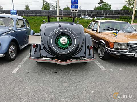 Back of Ford Model 48 Cabriolet 3.6 V8 Manual, 86ps, 1935 at Bil & MC träff i Lerum 2019