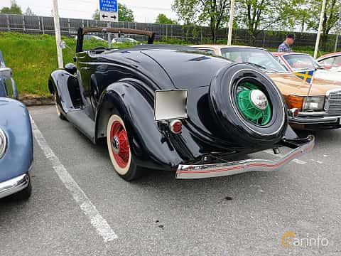 Back/Side of Ford Model 48 Cabriolet 3.6 V8 Manual, 86ps, 1935 at Bil & MC träff i Lerum 2019