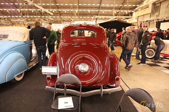 Back of Ford Model 68 5-window Coupé 3.6 V8 Manual, 86ps, 1936 at Bilsport Performance & Custom Motor Show 2017