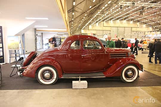 Side  of Ford Model 68 5-window Coupé 3.6 V8 Manual, 86ps, 1936 at Bilsport Performance & Custom Motor Show 2017