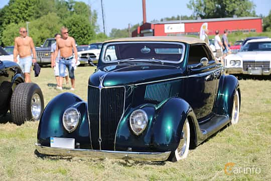Fram/Sida av Ford Model 68 Cabriolet 3.6 V8 Manual, 86ps, 1936 på Power America Fest, Nossebro 2018