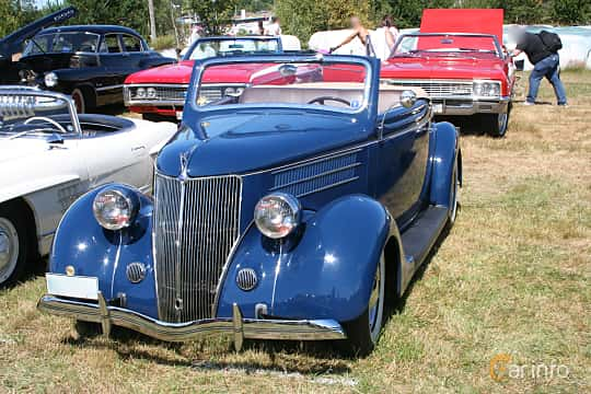 Front/Side  of Ford Model 68 Cabriolet 3.6 V8 Manual, 86ps, 1936 at Wheels & Wings 2014