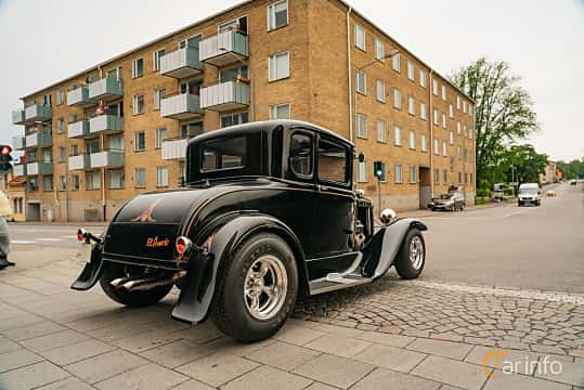 Back/Side of Ford Model A Coupé 3.3 Manual, 41ps, 1930 at Nässjö Cruising 2019