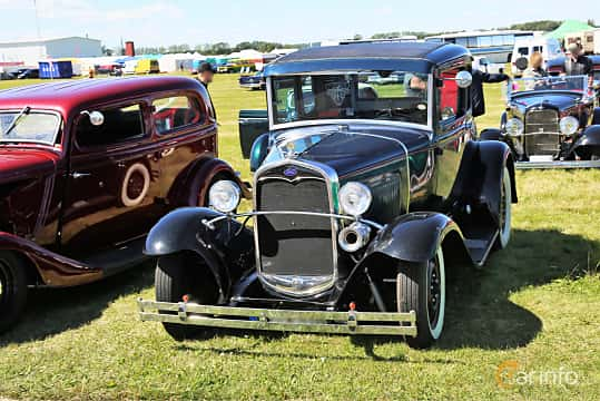 Front/Side  of Ford Model A Coupé 3.3 Manual, 41ps, 1930 at Lidköping Power Big Meet  2019