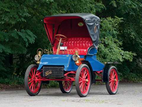 Front/Side  of Ford Model A Runabout 1.65 Manual, 8hp, 1903