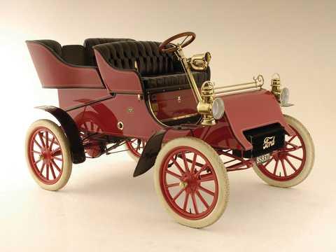 Fram/Sida av Ford Model A Tonneau 1.65 Manuell, 8hk, 1903