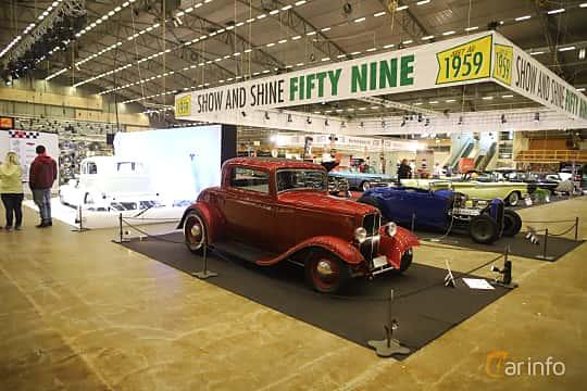 Fram/Sida av Ford Model B Coupé 3.3 Manual, 51ps, 1932 på Bilsport Performance & Custom Motor Show 2019
