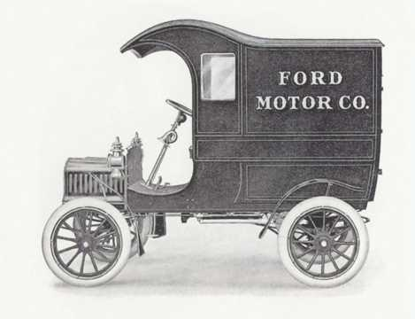 Side  of Ford Model E Delivery Car 2.0 Manual, 10hp, 1905