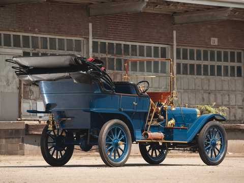 Back/Side of Ford Model K Touring 6.6 Manual, 41hp, 1907