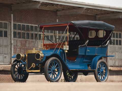Front/Side  of Ford Model K Touring 6.6 Manual, 41hp, 1907