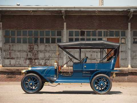 Side  of Ford Model K Touring 6.6 Manual, 41hp, 1907