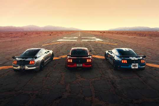 Back of Ford Mustang Shelby GT500 5.2 V8 DCT, 700hp, 2020