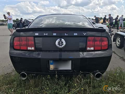 Back of Ford Shelby Mustang GT500 5.4 V8 475ps, 2005 at Ukrainian Drag Series Stage 1 2017