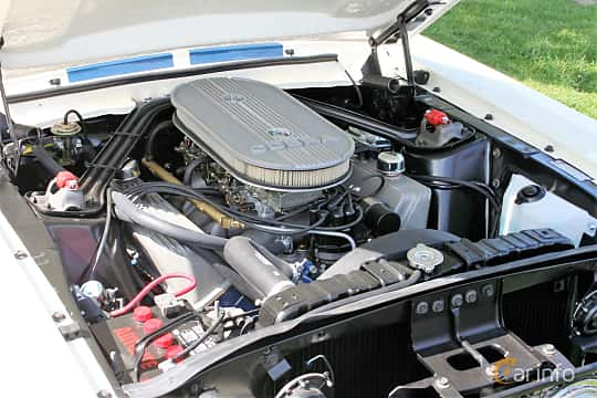 Engine compartment  of Ford Mustang Convertible 1965 at Hässleholm Power Start of Summer Meet 2016