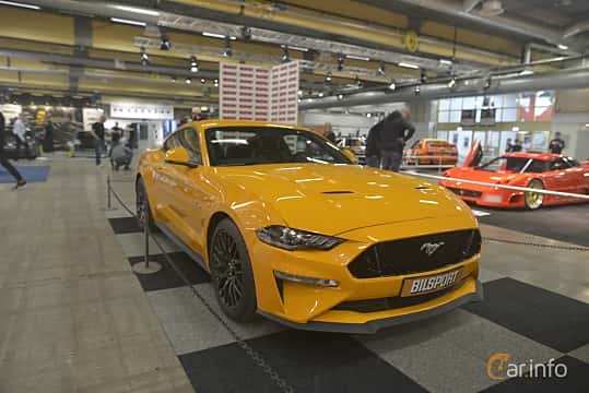 Front/Side  of Ford Mustang GT 5.0 V8 Automatic, 457ps, 2019 at Bilsport Performance & Custom Motor Show 2019