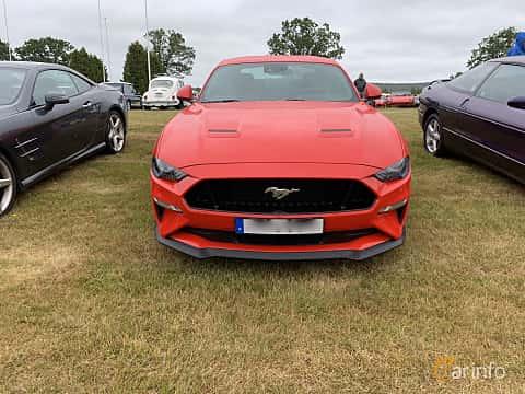 Front  of Ford Mustang GT 5.0 V8 Automatic, 450ps, 2019 at Svenskt sportvagnsmeeting 2019