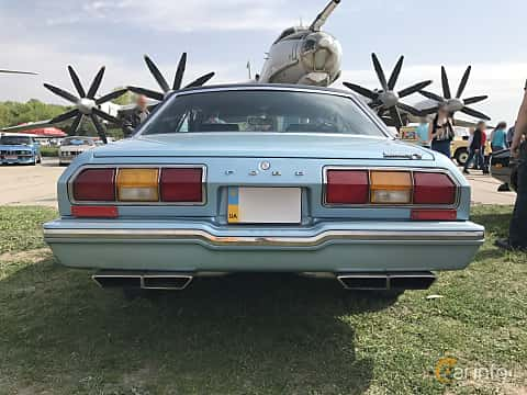 Back of Ford Mustang Coupe Ghia 4.9 V8 Automatic, 136ps, 1976 at Old Car Land no.1 2017