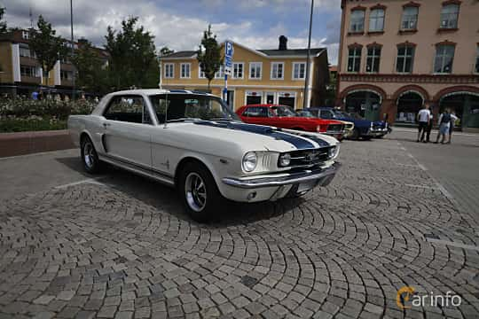 Front/Side  of Ford Mustang Hardtop 4.7 V8 Automatic, 203ps, 1966 at Riksettanrallyt 2017