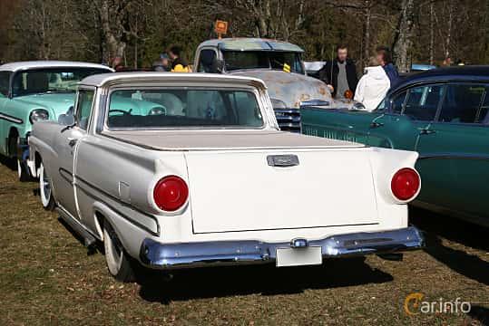 Back/Side of Ford Ranchero Custom 4.8 V8 Automatic, 208ps, 1958 at Uddevalla Veteranbilsmarknad Backamo, Ljungsk 2019