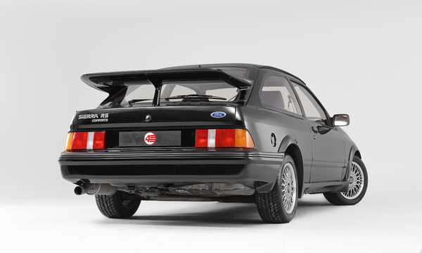 Back/Side of Ford Sierra RS Cosworth 3-door 2.0 Manual, 204hp, 1986