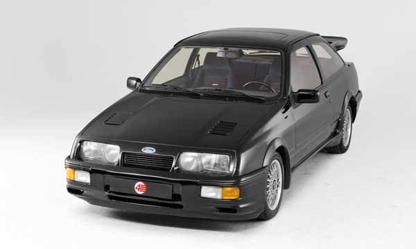 Front/Side  of Ford Sierra RS Cosworth 3-door 2.0 Manual, 204hp, 1986