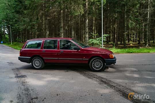 Side  of Ford Sierra Estate 2.0 Manual, 100ps, 1988 at Svenskt sportvagnsmeeting 2019