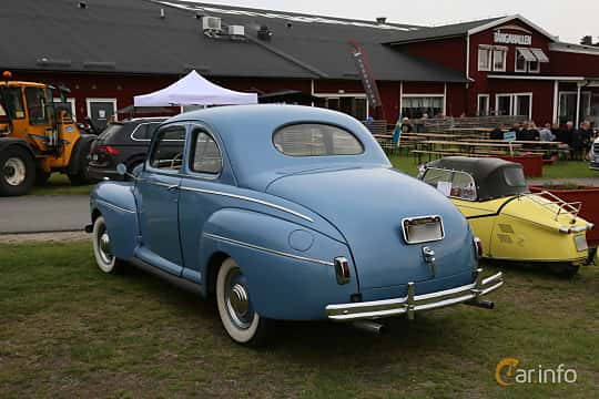 Back/Side of Ford Super Deluxe Coupé 3.6 V8 Manual, 91ps, 1941 at Nostalgifestivalen i Vårgårda 2019