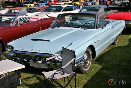 Front/Side  of Ford Thunderbird Convertible 7.0 V8 Automatic, 349ps, 1964 at Hässleholm Power Start of Summer Meet 2016