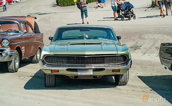 Front  of Ford Torino GT SportsRoof 5.8 V8 Automatic, 243ps, 1971 at Stockholm Vintage & Sports Car meet 2019
