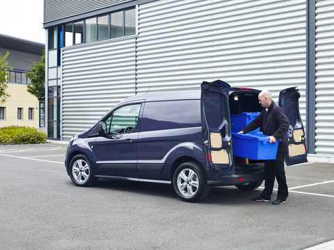Back/Side of Ford Transit Connect SWB 2013