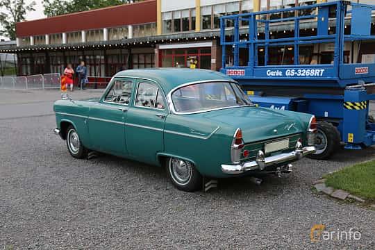Back/Side of Ford Zephyr 2.6 Manual, 90ps, 1956 at Bil & MC-träffar i Huskvarna Folkets Park 2019 Amerikanska fordon