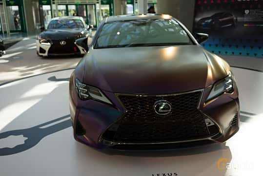 Front  of Lexus RC 350 3.5 V6 Automatic, 318ps, 2019 at LA Motor Show 2018