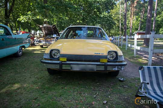 Front  of AMC Pacer Coupé 3.8 Automatic, 102ps, 1975 at Lergöksträffen Ängelholm 2019