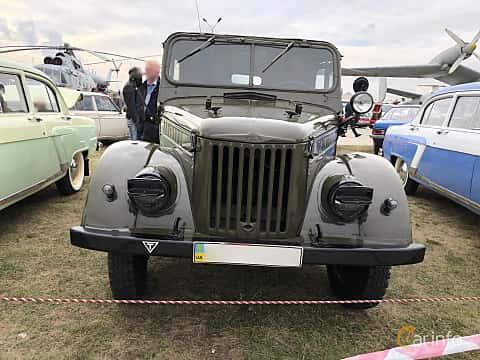 Front  of GAZ 69 4-door 2.1 4x4 Manual, 55ps, 1951 at Old Car Land no.2 2019