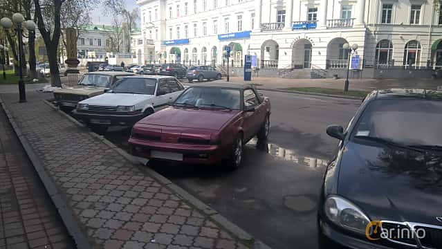 Front/Side of Pontiac Sunbird Convertible 1.8 Automatic, 150ps, 1986