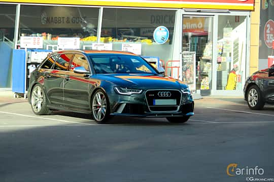 Front/Side  of Audi RS 6 Avant 4.0 TFSI V8 quattro TipTronic, 560ps, 2013