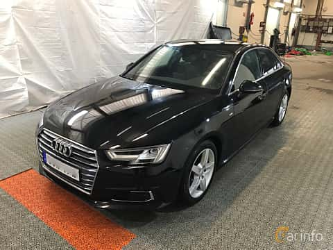 Front/Side  of Audi A4 Sedan 2.0 TDI quattro S Tronic, 190ps, 2017
