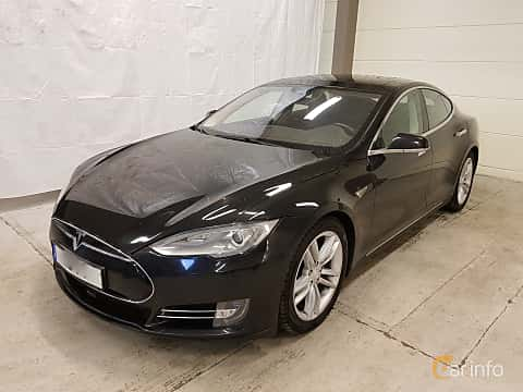 Fram/Sida av Tesla Model S 85D 85 kWh AWD Single Speed, 423ps, 2015