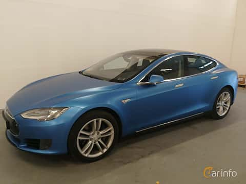 Front/Side  of Tesla Model S 90D 90 kWh AWD Single Speed, 423ps, 2016