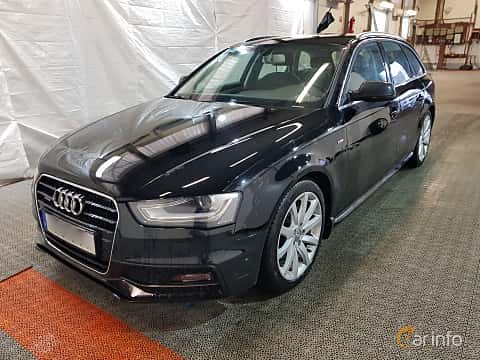 Front/Side  of Audi A4 Avant 2.0 TDI clean diesel quattro  S Tronic, 190ps, 2015