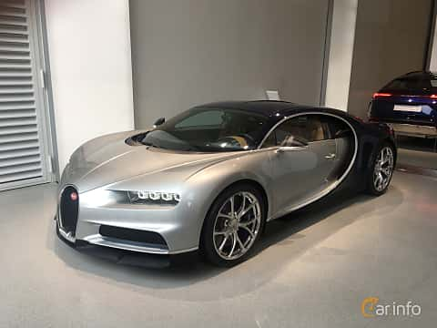Front/Side of Bugatti Chiron 8.0 W16 DSG Sequential, 1521ps, 2018