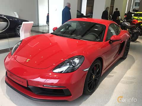 Front/Side of Porsche 718 Cayman GTS 2.5 H4 PDK, 365ps, 2019
