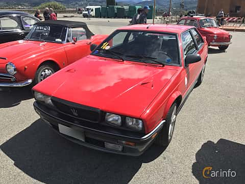 Front/Side  of Maserati Biturbo i 2.0 V6 Manual, 188ps, 1989
