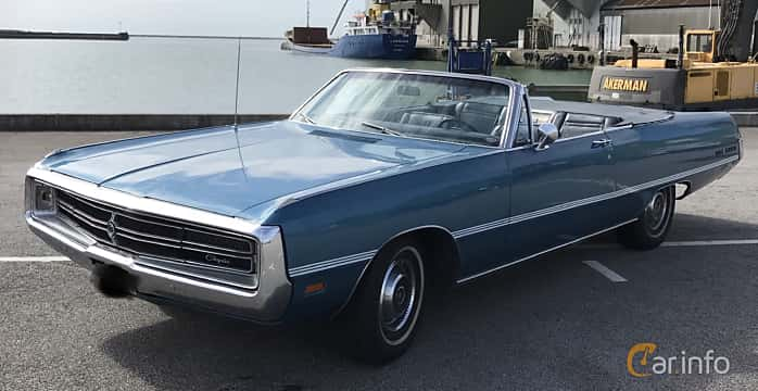 Fram/Sida av Chrysler Three Hundred Convertible 7.2 V8 TorqueFlite, 355ps, 1969