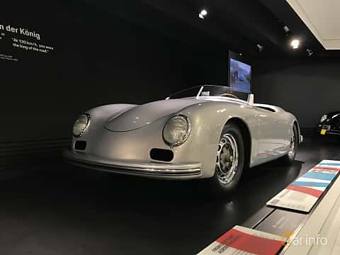 Front/Side  of Porsche 356 America Roadster 1.5 Manual, 70ps, 1953