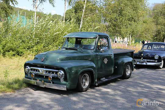 Front/Side  of Ford F Pickup 1953 at A-bombers - Old Style Weekend Backamo 2019