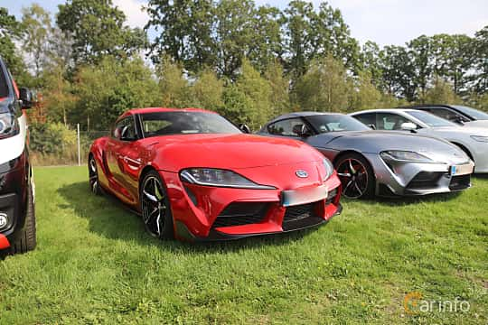 Front/Side  of Toyota GR Supra 3.0 Automatic, 340ps, 2019 at Autoropa Racing day Knutstorp 2019