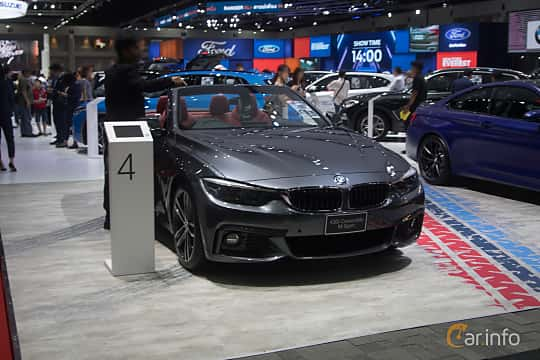 Front/Side  of BMW 430i Convertible  Steptronic, 252ps, 2019 at Bangkok Motor Show 2019
